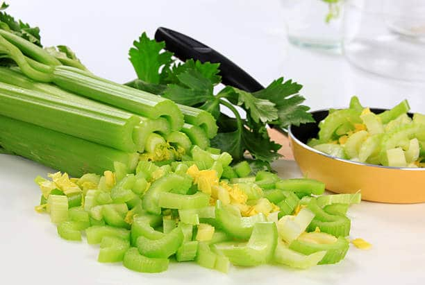 Here is a great video on how to slice celery with a knife with America's Test Kitchen.