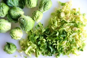Click here to see how to prepare Brussels sprouts and its health benefits for the Farr Better Creamy Mushroom Stroganoff.