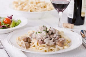 Farr Better Creamy Mushroom Stroganoff is plant-based and Allergy-Friendly