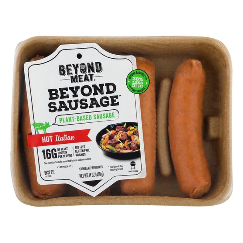 Cook Beyond Meat Sausages into crumbles added with your favorite seasoning to make a mouthwatering topping to the Farr Better Creamy Mushroom Stroganoff..