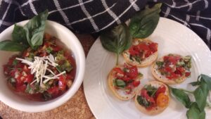 Farr Better Easy Bruschetta Recipe with Dairy-Free Parmesan Cheese