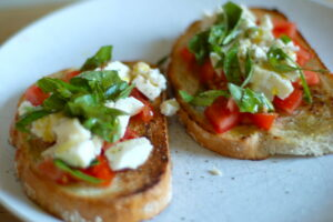 Farr Better Easy Bruschetta Recipe with Dairy-Free Feta Cheese