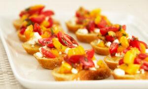 Farr Better Easy Bruschetta Recipe with Dairy-Free Mozzarella Style Cheese