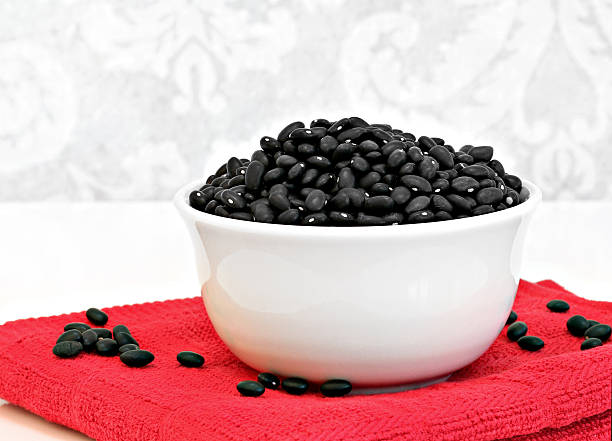 Drain and rinse the black beans for the Farr Better Black Bean Corn Salza Recipe