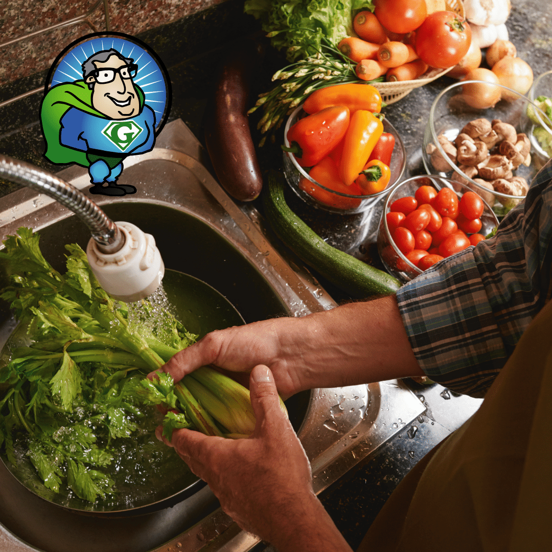 It's very important to wash them thoroughly with Earth's Natural Fruit & Vegetable Wash to clean 95% or more of the chemicals and toxins off your produce.
