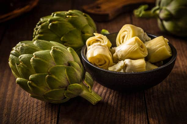 Artichoke is a rich source of dietary fibers, vitamins K, B9 and C and minerals such as sodium, manganese and magnesium.
