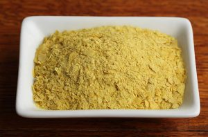 When nutritional yeast is fortified, it is especially rich in thiamine, riboflavin, niacin, vitamin B6, and vitamin B12.