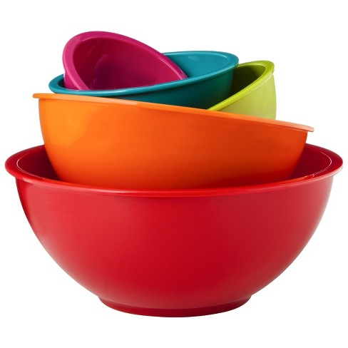 Gourmet Home Products 6 Piece Nested Polypropylene Mixing Bowl Set
