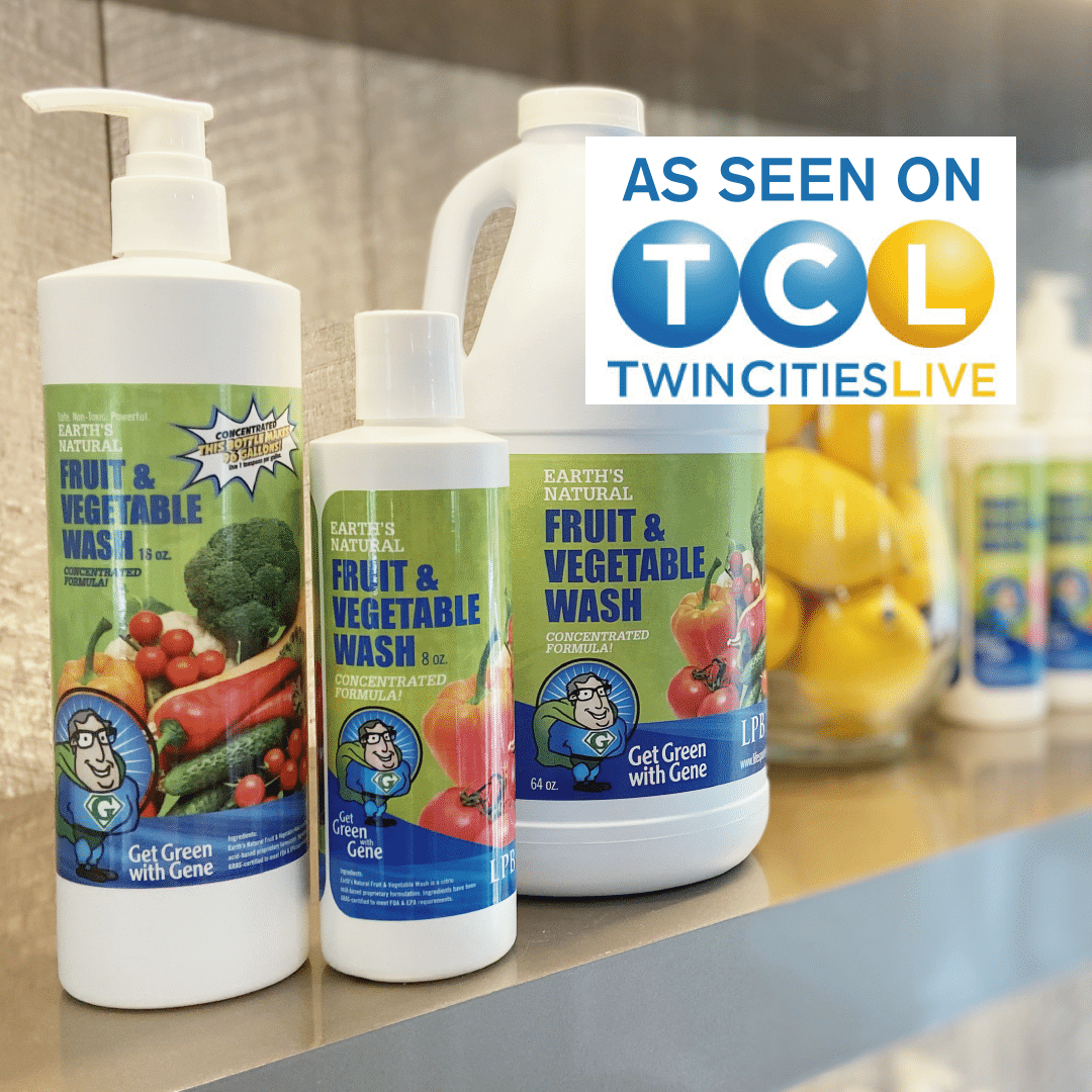 Farr Better Recipes prefers Earth's Natural Fruit & Vegetable Wash to clean all our produce.