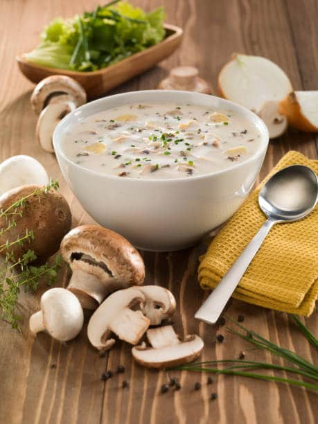 Happily invite your friends and family over for this delicious Farr Better Vegan Cream of Mushroom Soup