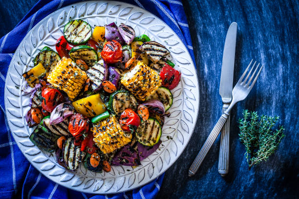 Grilled Veggies including the beautiful bell peppers.